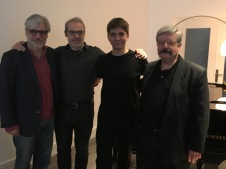 Con César Viana, David del Puerto y Miguel Bustamante.